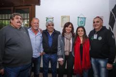 Agosto. Foto tomada en Smata durante un encuentro que reunión a Cristina con distintos líderes sindicales sindicales con