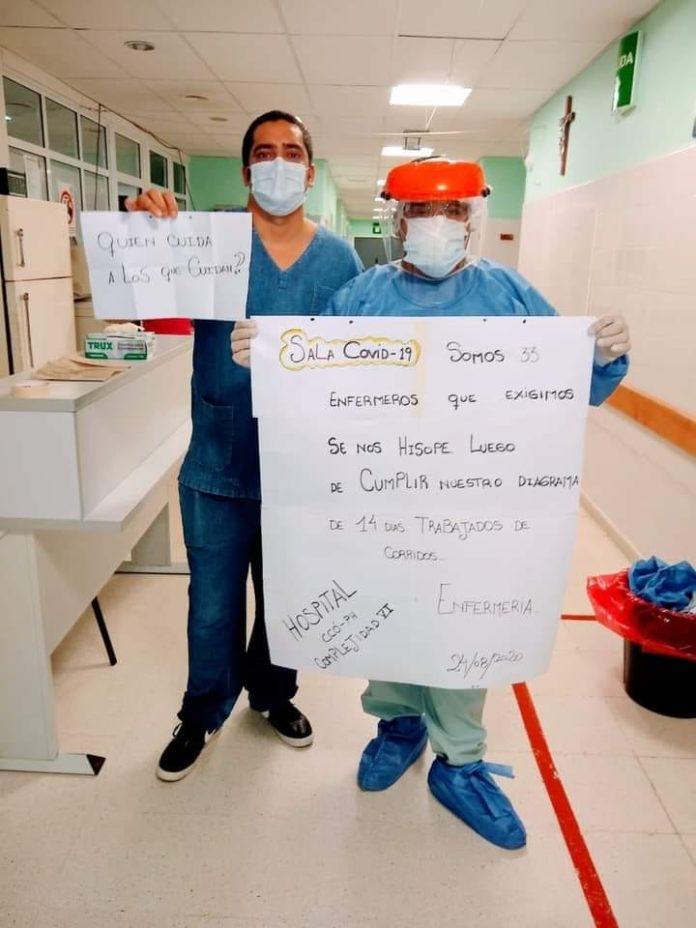 Enfermeros del Htal de Cutral Có